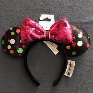 Disneyland Black Polkadot Minnie Mouse Ears